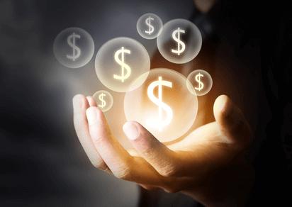 Bubbles of money